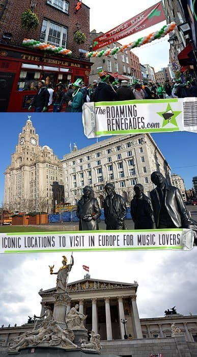 Iconic locations around Europe to visit as a music lover from Beethoven to the Beatles! > https://theroamingrenegades.com/iconic-locations-europe-music/ | #travel #Music #Europe #TheBeatles #Liverpool #Paris #Dublin