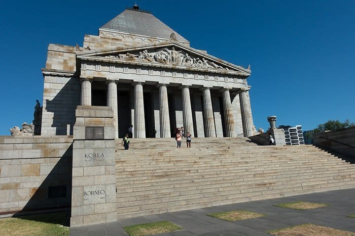 Melbourne 5 day itinerary: best places to visit in Melbourne. Shrine of Remembrance and ANZAC.