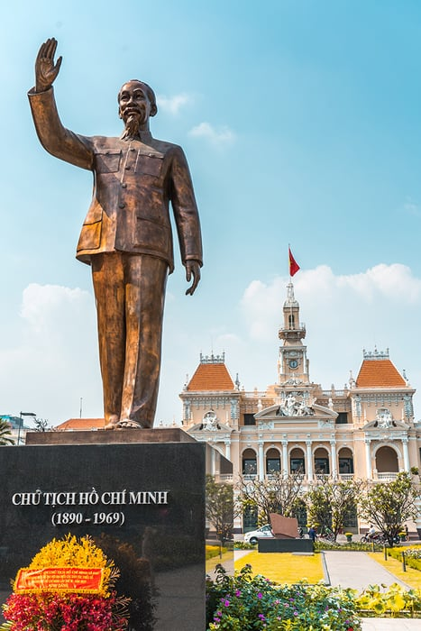 Ho Chi Minh statue in Saigon. 3 weeks in Vietnam, Vietnam itinerary: 3 weeks, 3 week Vietnam itinerary