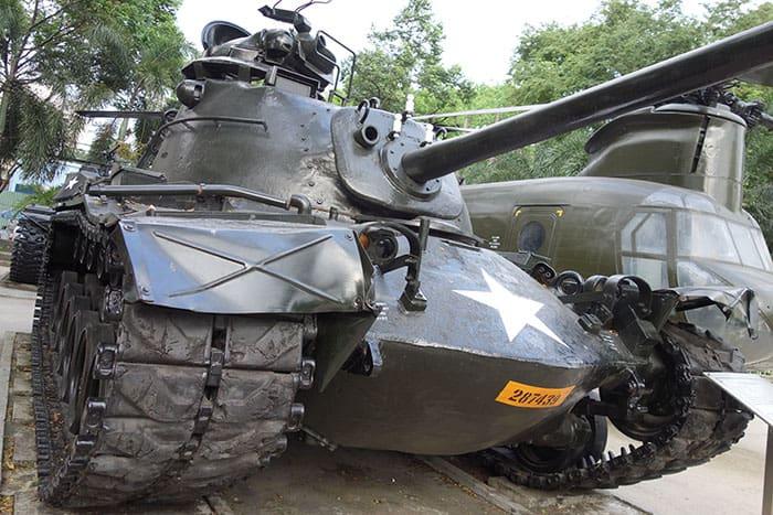 American Tank in the War Remnants museum Saigon. 3 weeks in Vietnam, Vietnam itinerary: 3 weeks, 3 week Vietnam itinerary