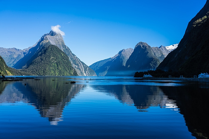 Mitre peak at Milford Sound, (day trips from Christchurch, Christchurch day trips, places to visit near Christchurch, things to do in Canterbury New Zealand, visit Christchurch)
