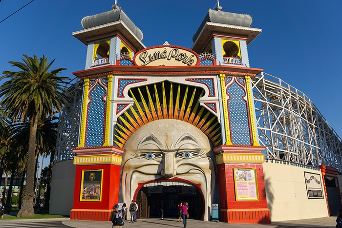 Luna park theme park. (cheap activities in Melbourne, Free museum Melbourne, Non touristy things to do in Melbourne, Melbourne on a budget, Backpacker in Melbourne, Backpacking in Melbourne, Backpacker things to do in Melbourne, Free things to do in Melbourne today, Free fun things to do in Melbourne CBD, Free things to do in Victoria, Free places to visit in Melbourne, Things To do in Melbourne free, Free stuff to do in Melbourne, Free fun things to do in Melbourne, What to do in Melbourne for free, Things to do for free in Melbourne, Free activities Melbourne, Things to do in Melbourne for free, Melbourne free things to do, Cheap things to do in Melbourne, free things to do in Melbourne)