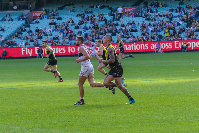 Dustin Martin of Richmond against St Kilda at the MCG. (cheap activities in Melbourne, Free museum Melbourne, Non touristy things to do in Melbourne, Melbourne on a budget, Backpacker in Melbourne, Backpacking in Melbourne, Backpacker things to do in Melbourne, Free things to do in Melbourne today, Free fun things to do in Melbourne CBD, Free things to do in Victoria, Free places to visit in Melbourne, Things To do in Melbourne free, Free stuff to do in Melbourne, Free fun things to do in Melbourne, What to do in Melbourne for free, Things to do for free in Melbourne, Free activities Melbourne, Things to do in Melbourne for free, Melbourne free things to do, Cheap things to do in Melbourne, free things to do in Melbourne)