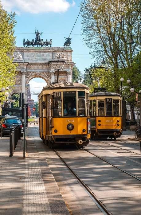 Trams in Milan, (Milan 2 days, Two days in Milan, Milan in 2 days, What to do in Milan for 2 days, 2 days in Milan, 2 days in Milan itinerary, Milan itinerary 2 days, Milan city break, A weekend in Milan, How many days in Milan)