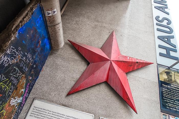 A communist red star in Berlin (2 days in Berlin, Things to do in Berlin, 2 days in Berlin itinerary, Berlin 2 days itinerary, Berlin in two days, 48 hours in Berlin itinerary, What to do in Berlin in 2 days, Berlin 2 days, Things to do in Berlin, backpacking Berlin, cheap, budget Berlin, Germany)