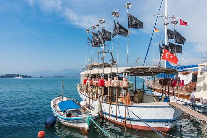 Fethiye Harbour and local fishing boats. (Paragliding in Oludeniz, Paragliding in Turkey, Fethiye paragliding, Paragliding Oludeniz, Paragliding in Turkey Oludeniz, Paragliding Oludeniz Turkey, Paragliding in Oludeniz, turkey, Paragliding Oludeniz cost, fethiye Paragliding price, Oludeniz paragliding height, Babadag paragliding, Paragliding in Oludeniz price, Oludeniz paragliding prices, Oludeniz paragliding price)
