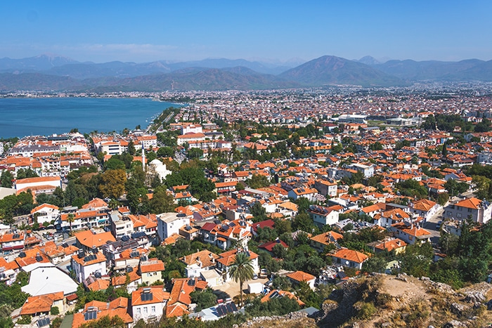 View over Fethiye from the fortress ruins. (Paragliding in Oludeniz, Paragliding in Turkey, Fethiye paragliding, Paragliding Oludeniz, Paragliding in Turkey Oludeniz, Paragliding Oludeniz Turkey, Paragliding in Oludeniz, turkey, Paragliding Oludeniz cost, fethiye Paragliding price, Oludeniz paragliding height, Babadag paragliding, Paragliding in Oludeniz price, Oludeniz paragliding prices, Oludeniz paragliding price)