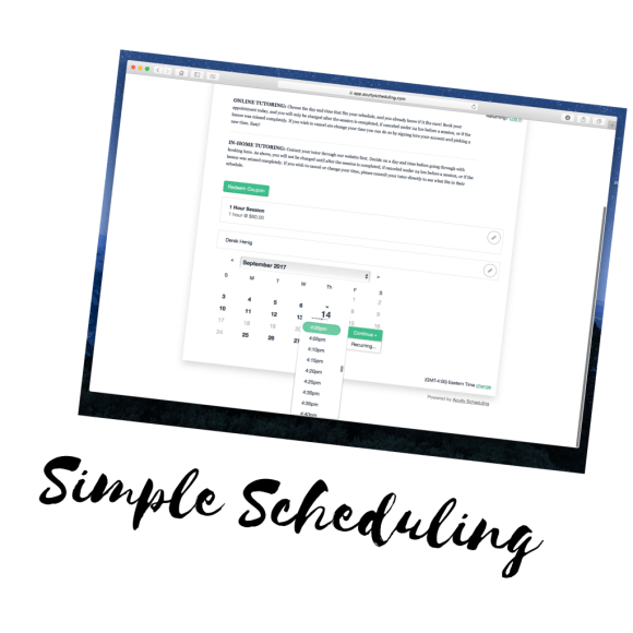 scheduling tutoring is easier than ever!