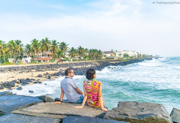 Rock beach in Pondicherry