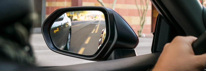 Kết quả hình ảnh cho blind spot monitor toyota