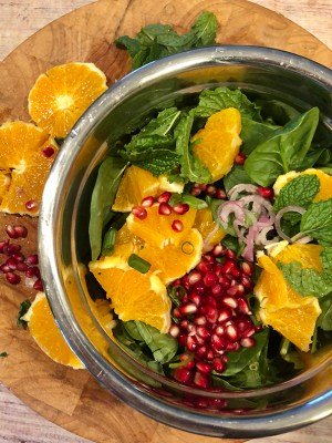 Fall Pomegranate -Spinach Salad 🍊🍃🍁