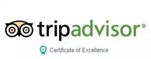 Trip advisor Logo certificate of exelence