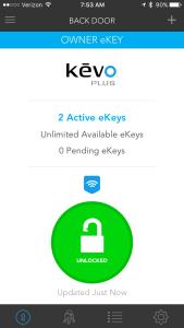 kevo unlock