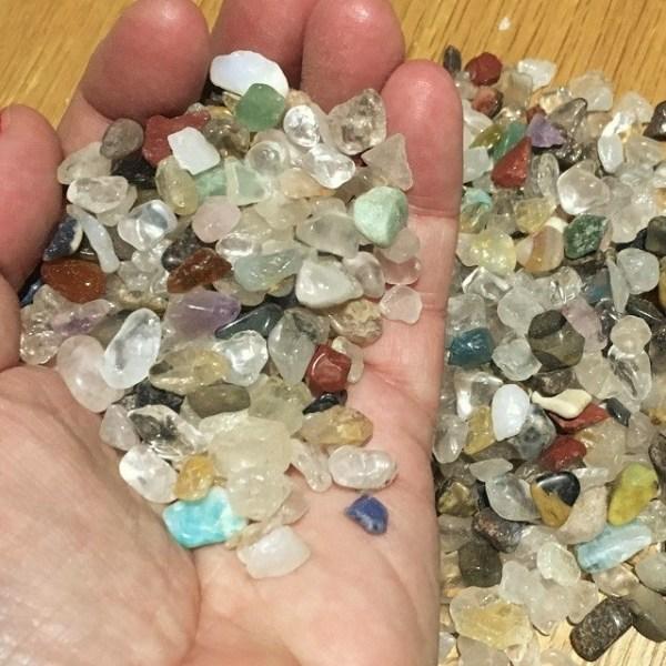 bag of mixed mini crystals