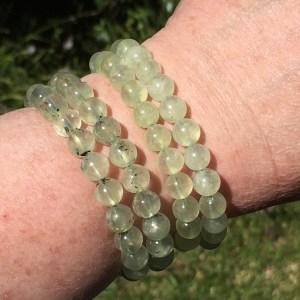 buy Prehnite Bracelets Prehnite with epidote bracelets