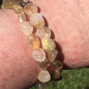 golden Rutilated Quartz Bracelets