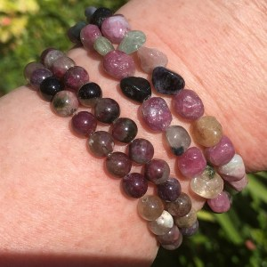 buy Pink Tourmaline Bracelets in A+ grade