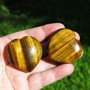 buy golden Tiger's Eye Hearts