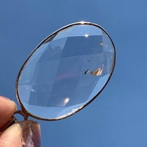 Faceted Clear Quartz Silver Pendant
