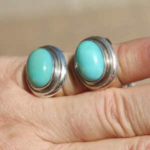 Turquoise Rings in sterling silver
