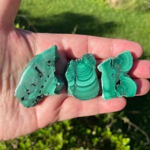 malachite slices specimens from Congo