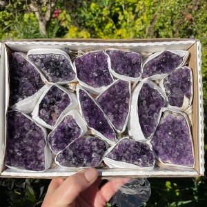 Buy Box of High Grade Amethyst Clusters from Brazil