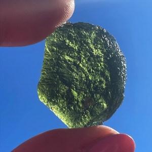 Green Moldavite Tektite