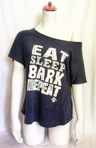 EAT SLEEP BARK REPEAT DOLMAN TEE