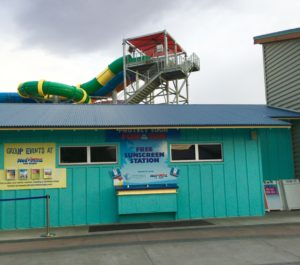 Wet 'n' Wild Las Vegas Sunblock station Summer