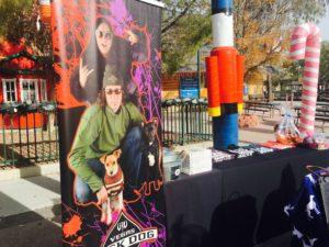 Vegas Rock Dog Radio booth. A magical day at Santa Paws.