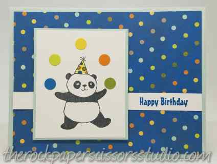 Stampin Up Party Pandas Birthday Card