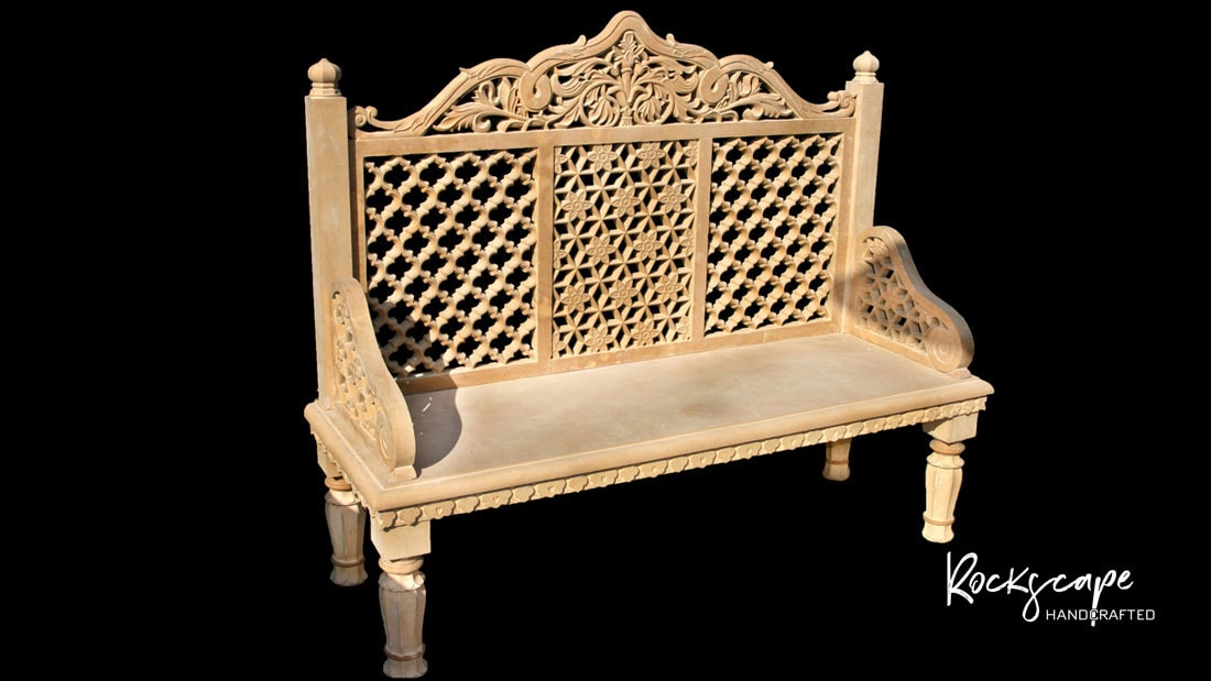 marble-furniture-design by rockscape handcrafted garden chairs bench and ascent chairs
