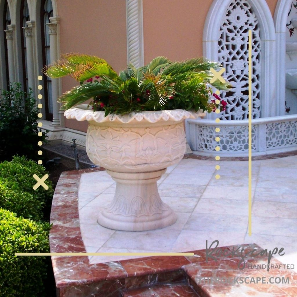 large garden planter made to order by the rockscape company