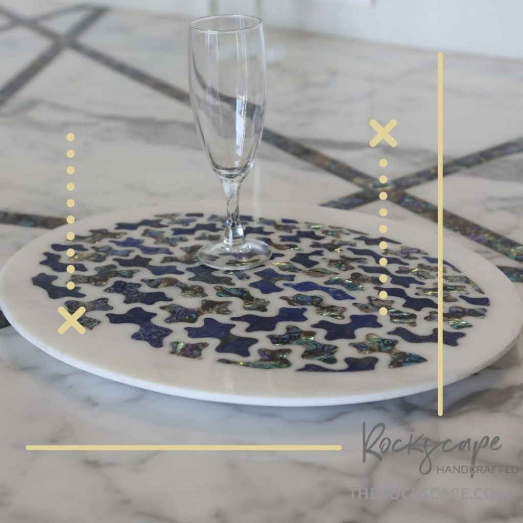 high end marble inlay tray