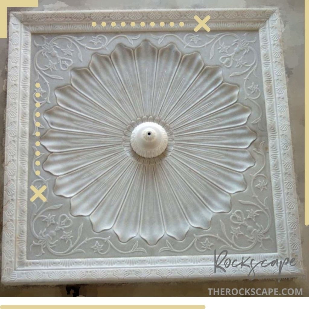 floor fountain made in marble by the rockscape company