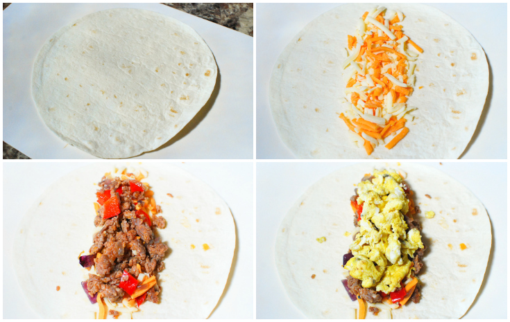 Freezer Friendly Breakfast Burrito - Step 3 - The Rockstar Mommy