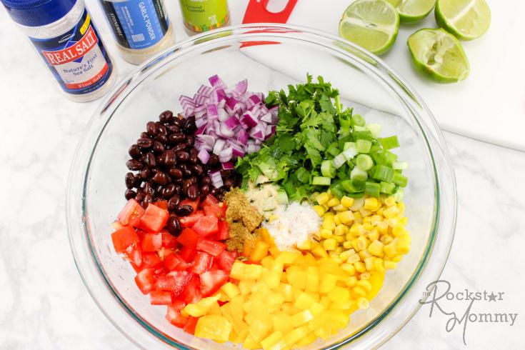 Summer Black Bean Salsa Recipe - The Rockstar Mommy