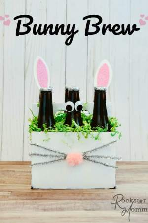 Easter Bunny Brew Gift - Fun Easter gift craft idea - The RockstarMommy.com