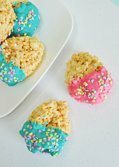 Easter Egg Rice Krispie Treats Recipe - The Rockstar Mommy