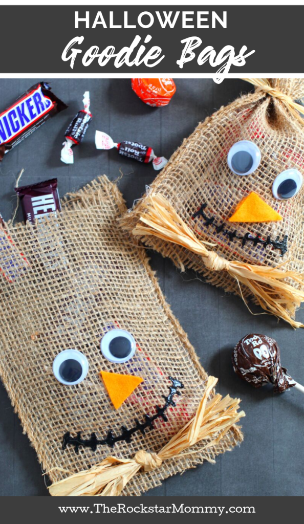Scarecrow Halloween Goodie Bags craft from The Rockstar Mommy
