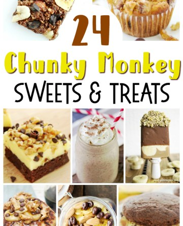 Collage image showing 8 different Chunky Monkey recipe Ideas