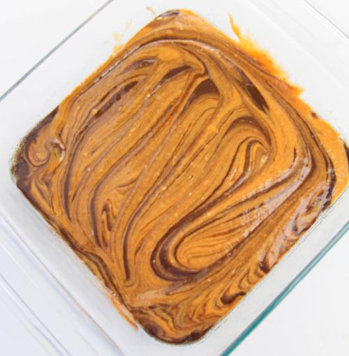 pumpkin mixture mixed int brownie mix