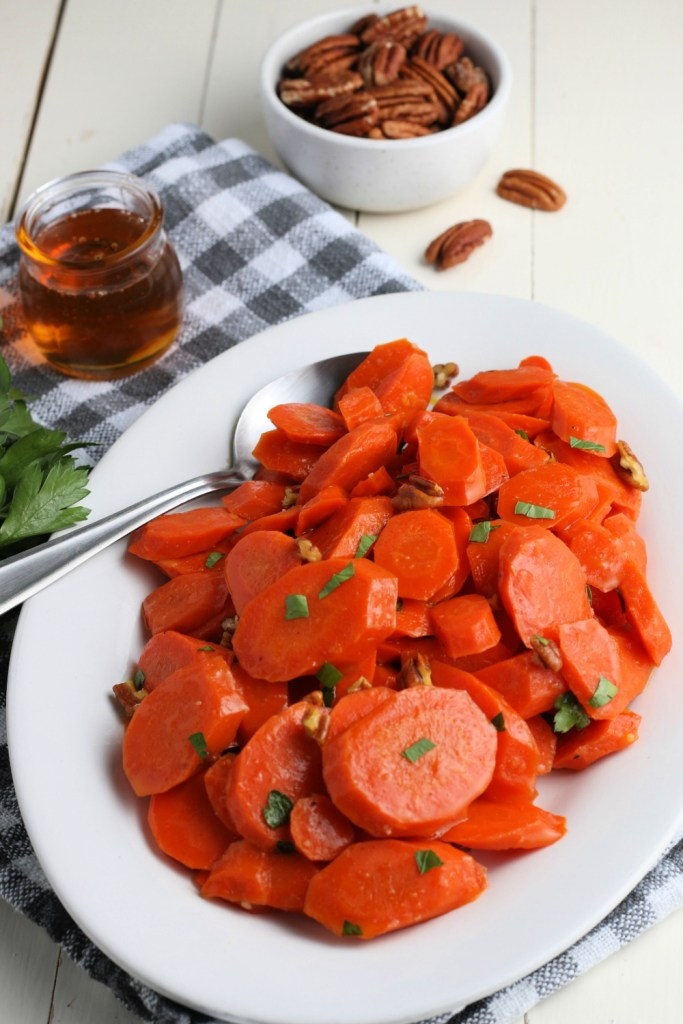 Honey glazed Carrots on a