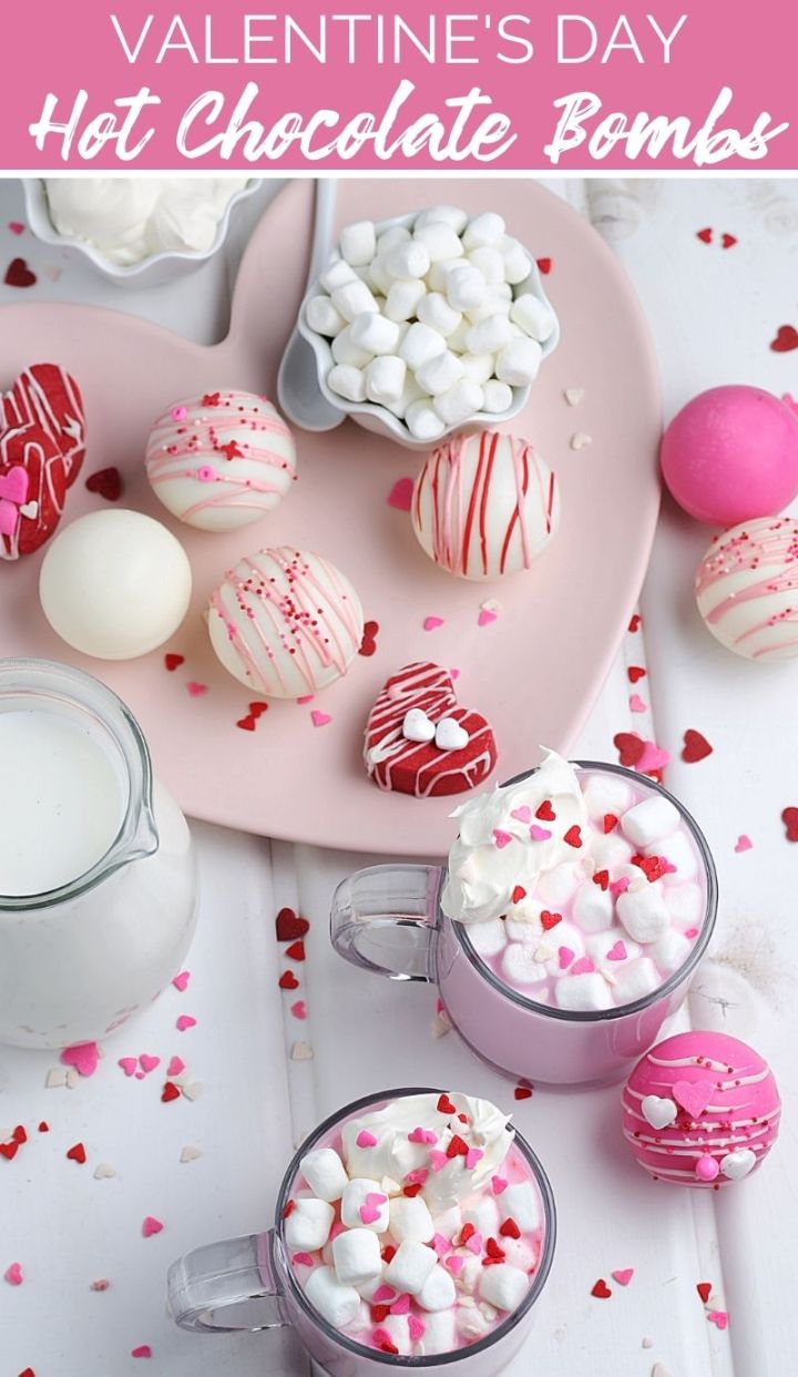 What better way to celebrate the month of love than by enjoying these adorably delectable Valentine's Hot Chocolate Bombs with your love!