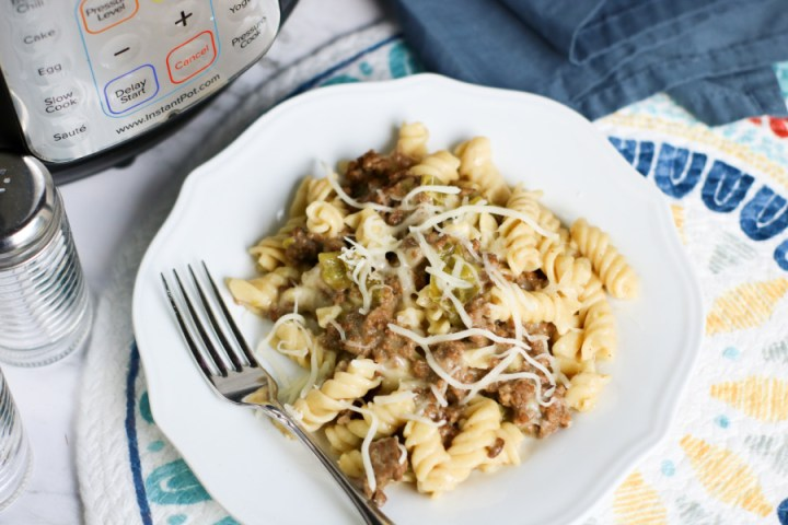 Instant Pot Philly Cheesecake Pasta