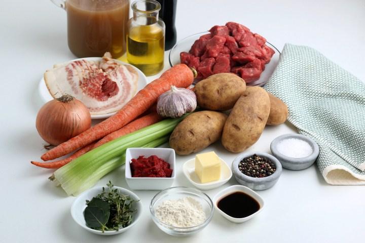 ingredients for Irish Beef Stew