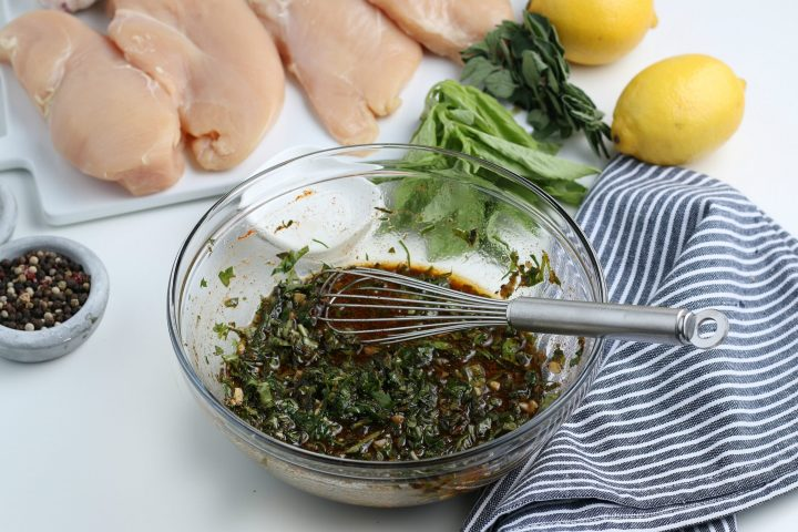 chicken marinade in a mixing bowl