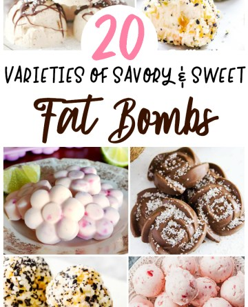 collage image of 6 different fat boom recipes