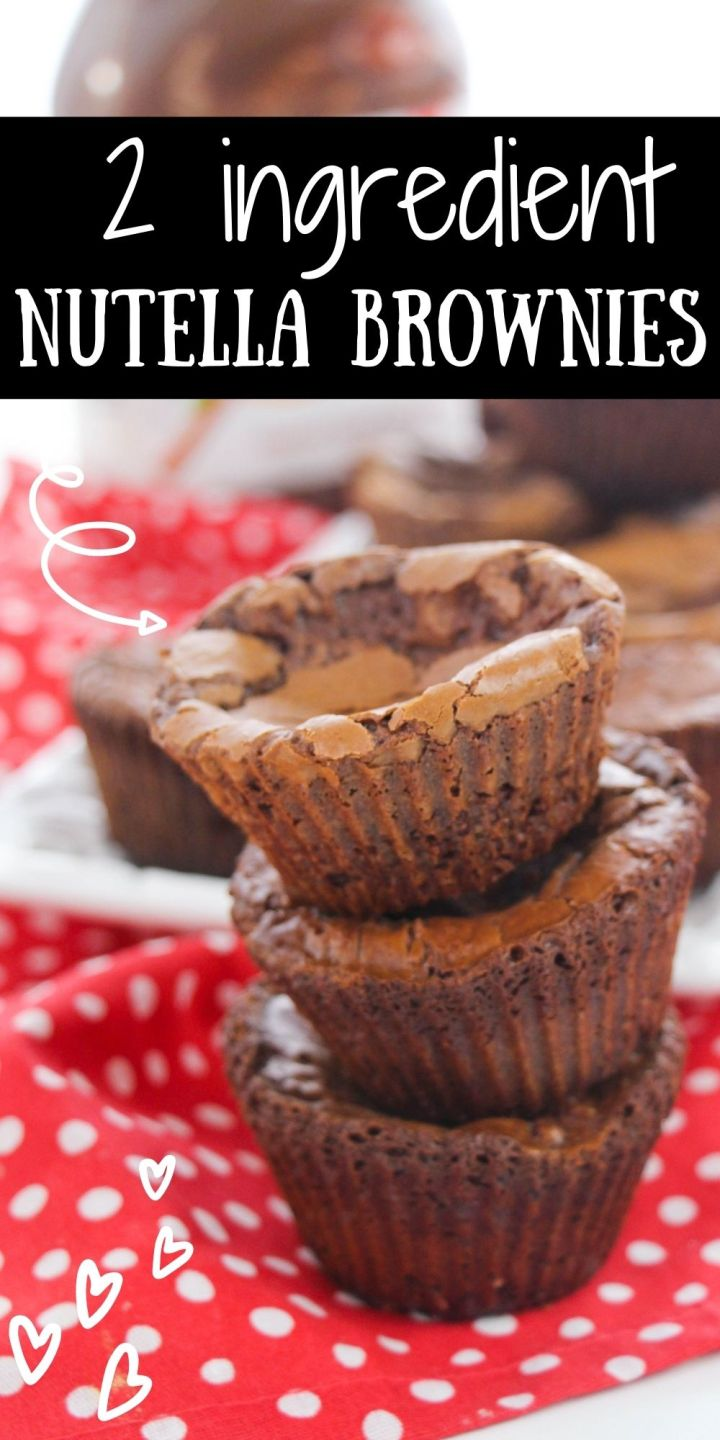Try these Two Ingredient Nutella Brownies today that can be made within the same time as it takes to preheat your oven!