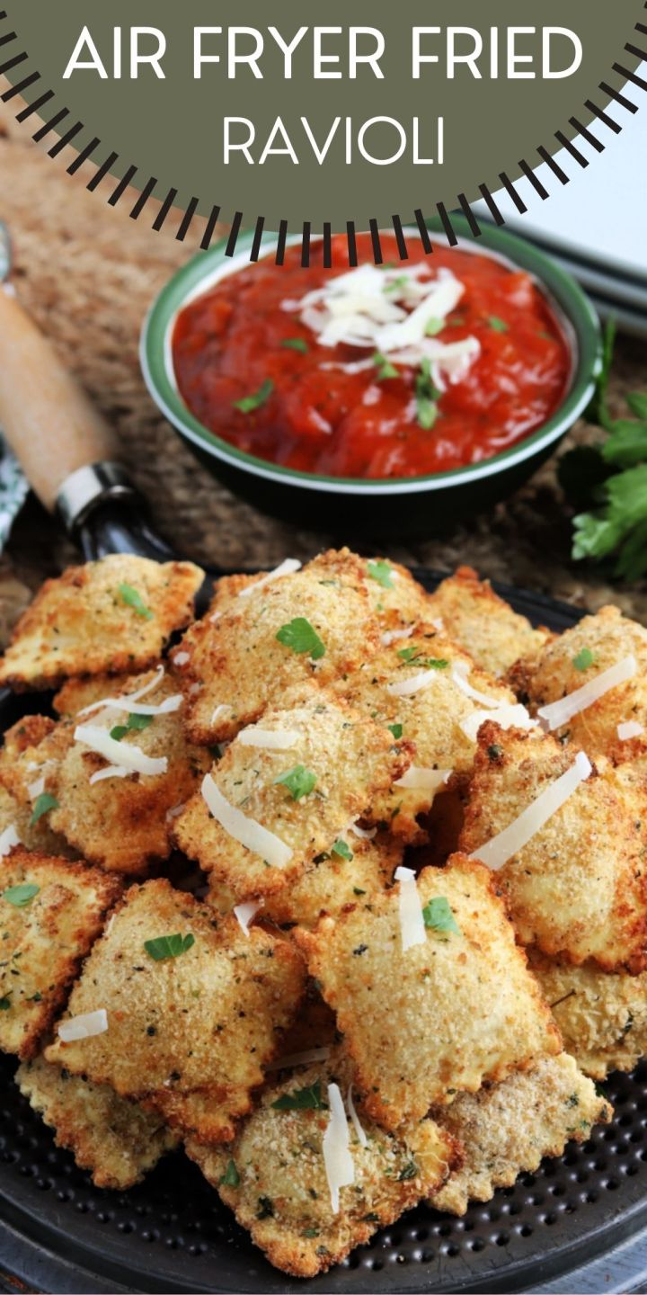 Air Fryer Fried Ravioli Appetizer is the perfect tasty morsel to serve up at your next backyard BBQ or party, sure to please any crowd!